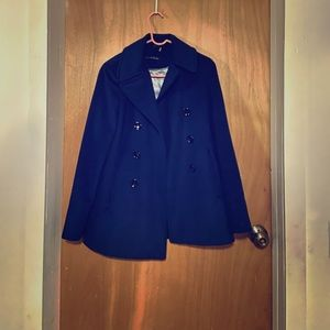 Navy Blue Calvin Klein Pea Coat